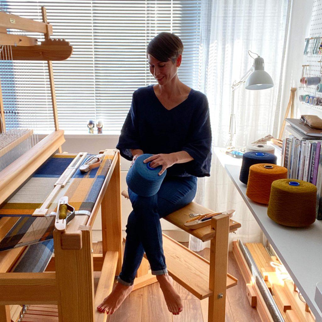 Workspace weaving Daisy van Groningen