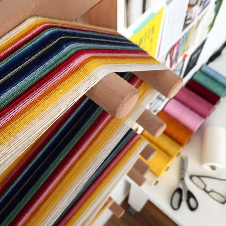 No. 19 Scarf in twill rainbow colourblock