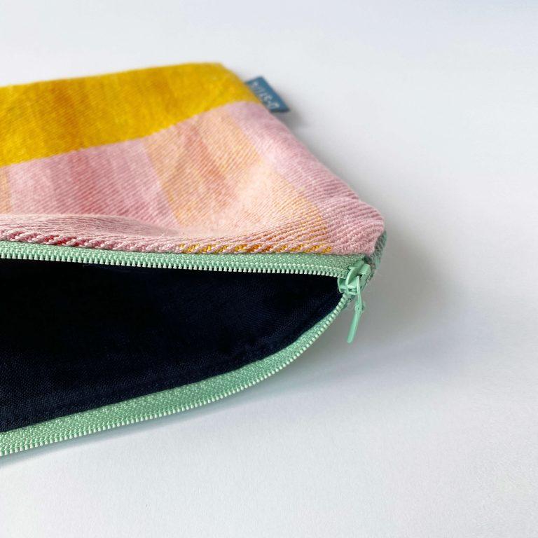 Handwoven zipperbag twill 10ZB