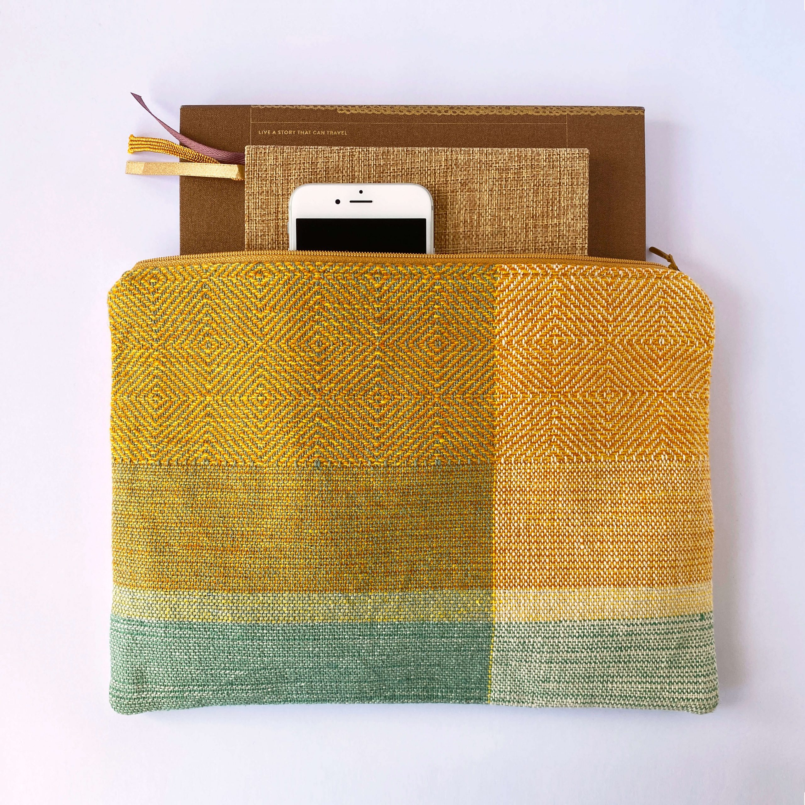 Zipperbag in point twill & plain weave (11ZB)