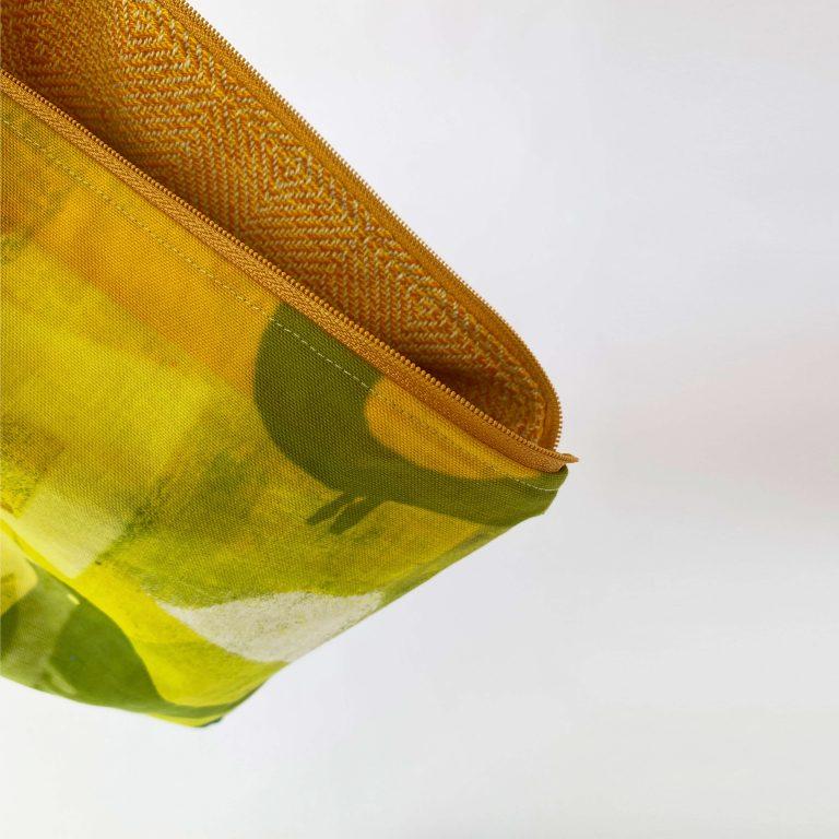 Handwoven zipperbag point twill x plain weave 11ZB