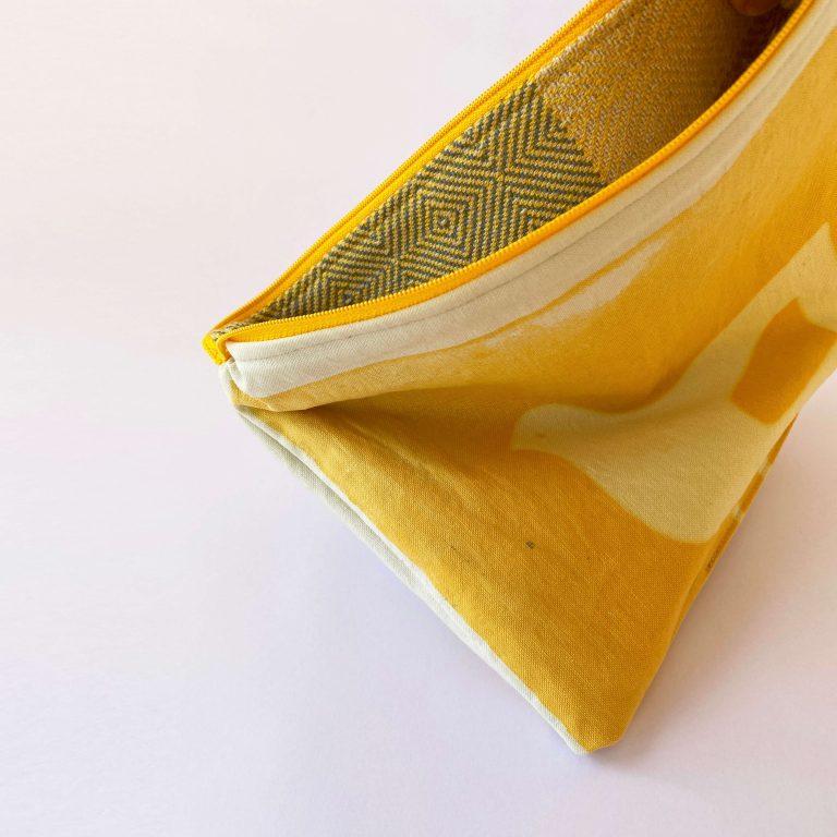 Handwoven zipperbag point twill 12ZB
