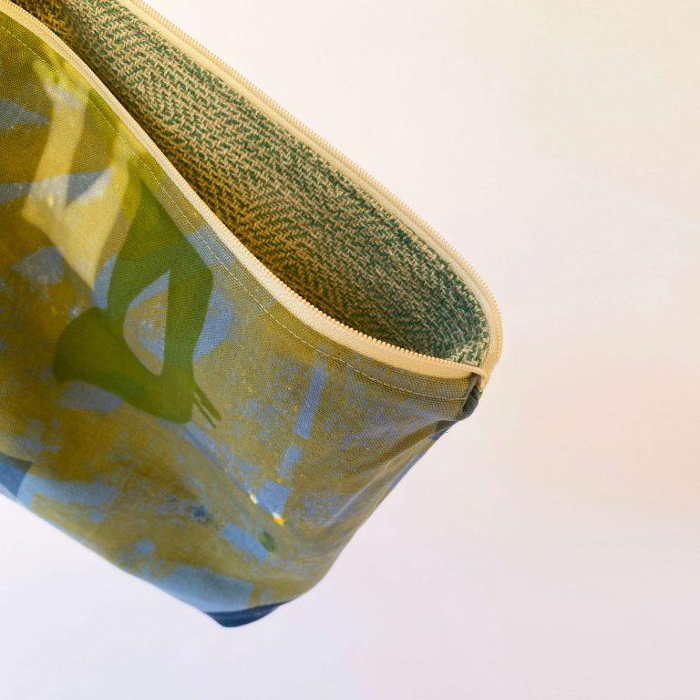 Handwoven zipperbag point twill 13ZB