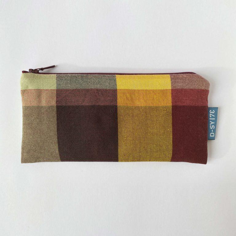 Handwoven zipper bag bordeaux 01ZB