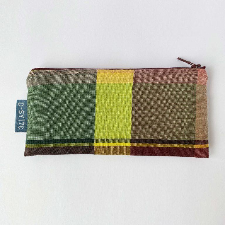 Handwoven zipper bag bordeaux 02ZB
