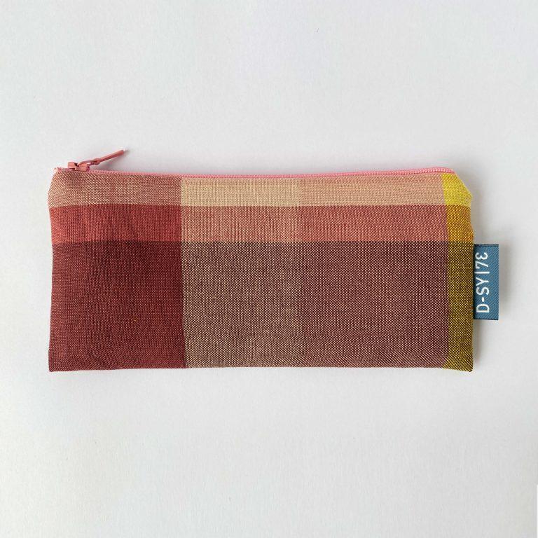 Handwoven zipper bag pink 03ZB