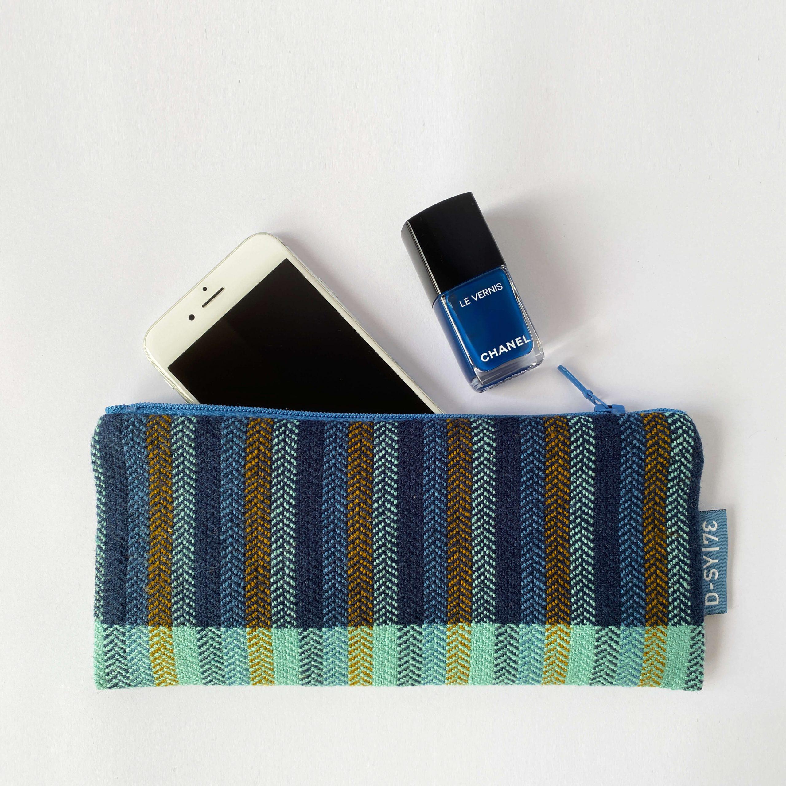 Zipperbag in herringbone twill stripes (04ZB)