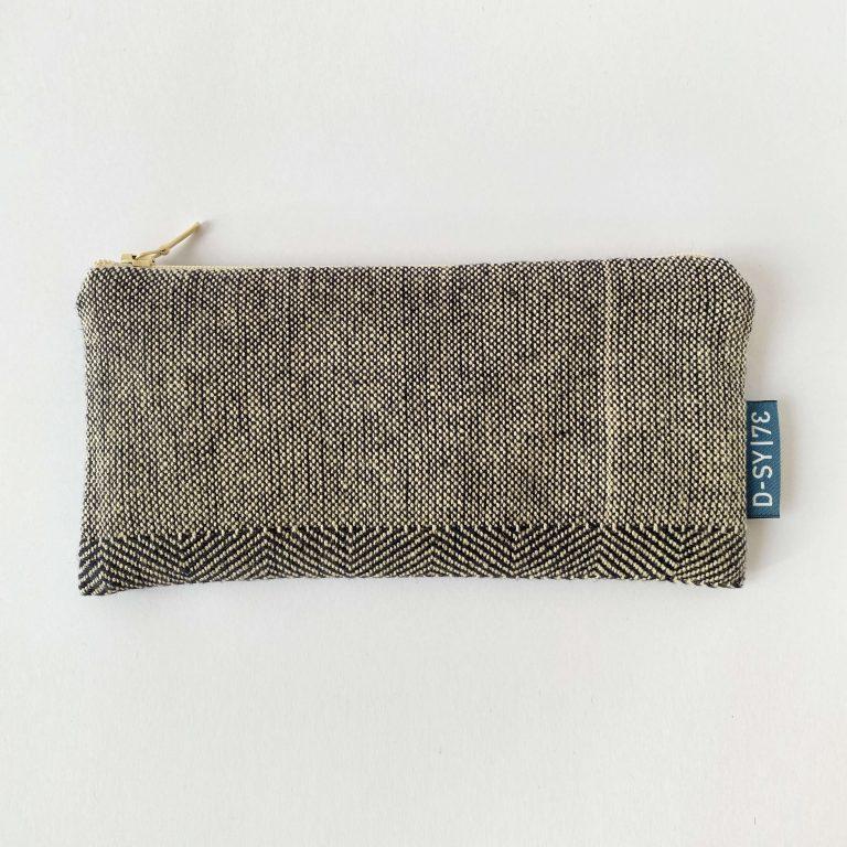 Handwoven zipperbag point twill x plain weave 05ZB