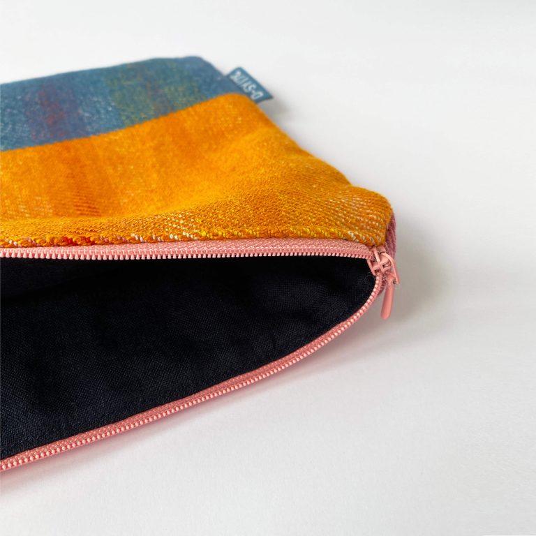 Handwoven zipperbag twill stripe 09ZB