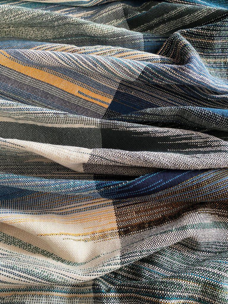 Wall panel a memento of Japan saori weaving